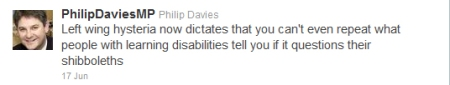 Twitter Philip Davies MP
