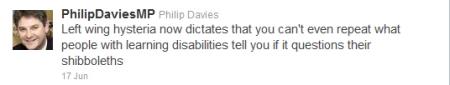 Twitter Philip Davies MP