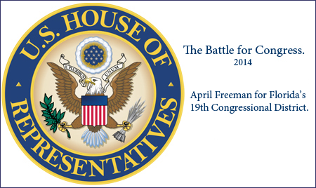 Florida's 19th Congressional District Race. April Freeman