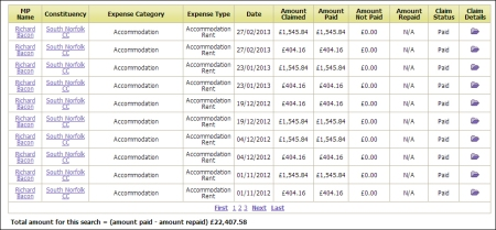 richard bacon mp, mps expenses, bedroom tax tories, tories expenses, conservative party expenses