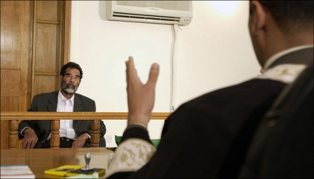 Saddam in court in 2004.