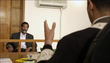 Saddam in court in 2004.