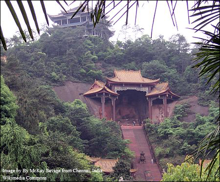 Buddhist Temple in Leshan, China.