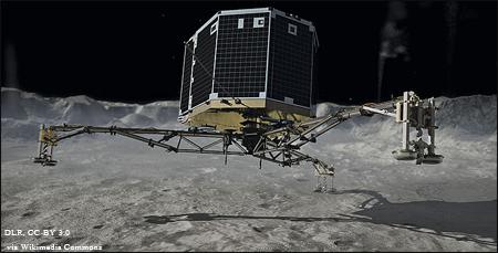 Rosetta's Philae touchdown.